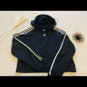 Black Adidas Crop Sweater in M